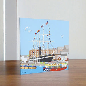 ss Great Britain Greetings Card by Dona B drawings | The Bristol Shop