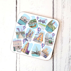 Bristol Sketches 12 Coaster by Dona B drawings | The Bristol Shop