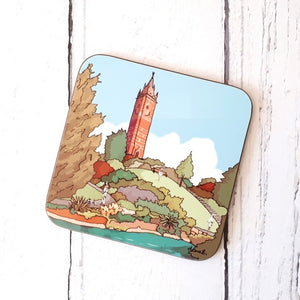 Cabot Tower Bristol Coaster by Dona B drawings | The Bristol Shop