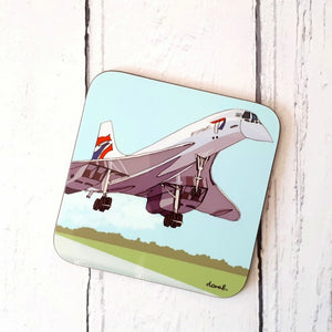 Concorde Bristol Coaster by Dona B drawings | The Bristol Shop