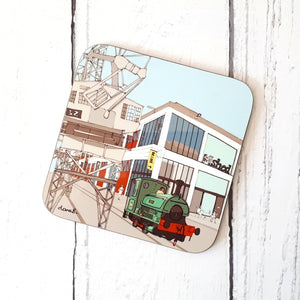 M Shed Bristol Coaster by Dona B drawings | The Bristol Shop
