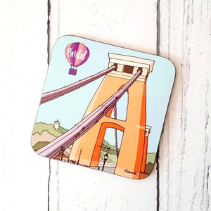 Clifton Suspension Bridge Coaster by Dona B drawings | The Bristol Shop