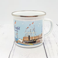 Floating Bristol Enamel Mug by Dona B drawings | The Bristol Shop