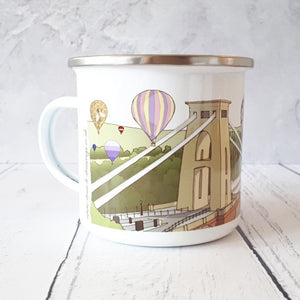 Gorgeous Bristol Enamel Mug by Dona B drawings | The Bristol Shop