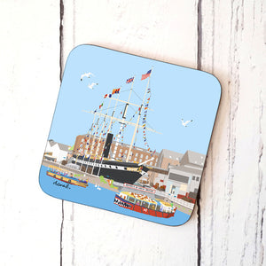 Floating Bristol Coaster by Dona B drawings | The Bristol Shop