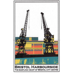 Bristol Harbourside in Orange, A3 Screen Print by Abi Murray | The Bristol Shop