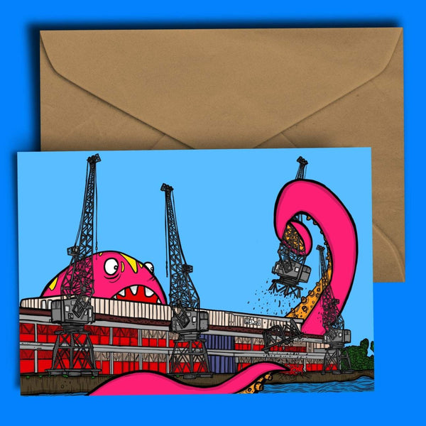 Bristol MShed Greetings Card by Dixon Does Doodles
