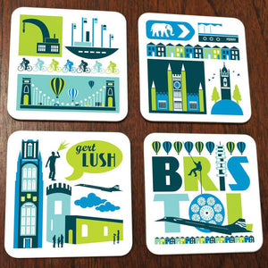 City of Bristol Coaster Set by Susan Taylor Art at The Bristol Shop
