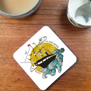 SS Great Britain Coaster by Susan Taylor | The Bristol Shop