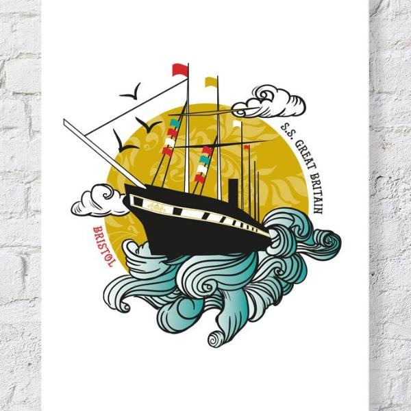 SS Great Britain Print, A4 or A2 by Susan Taylor