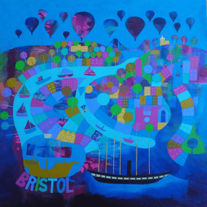 Evenin' Bristol! - Giclee Print By Jenny Urquhart at The Bristol Shop