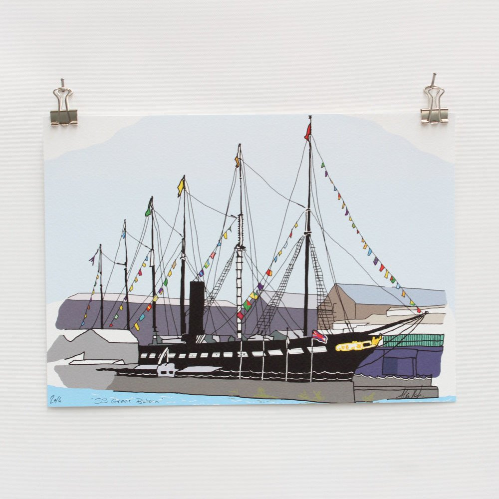 ss Great Britain Digital Art Print by Rolfe & Wills on The Bristol Shop