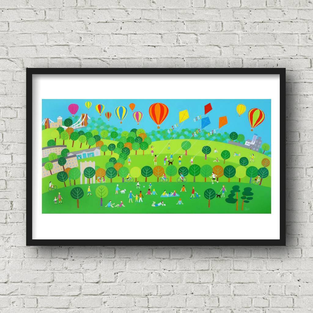 Summer on The Downs - Giclée Print by Jenny Urquhart