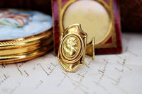 Vintage Italian Jewelry Cameo Ring