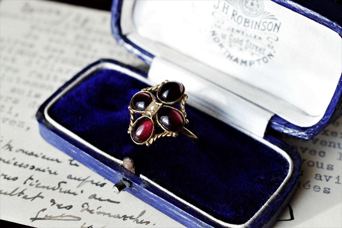 Antique Georgian Garnet Ring Georgian Jewelry