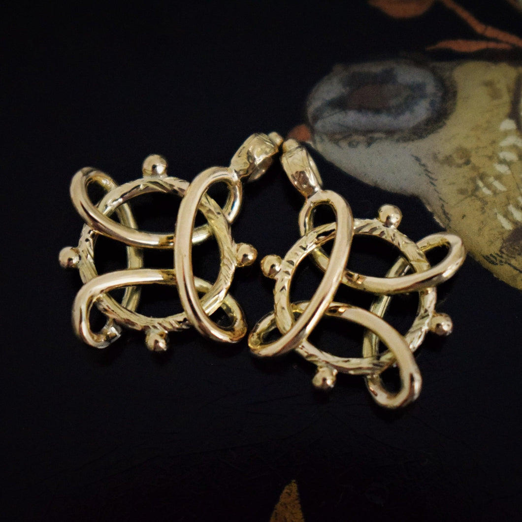 Antique Golden Charm or Extension Ring - Pretty Different Shop