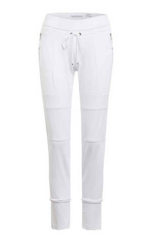Raffaello Rossi  Candy Pant in White online Australia relaxed comfortable black drawstring pants online Australia Signature of Double Bay Raffaello Rossi Pants online