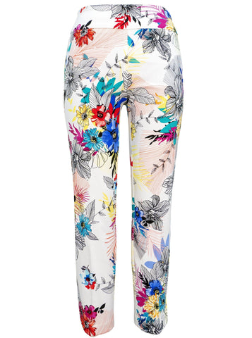 Up Pants Summer Pant Pull on Tummy Control 66787 Tummy control floral pants online Australia