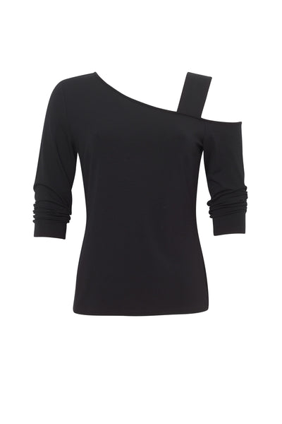 Paula Ryan Black Asymmetric Top 8202