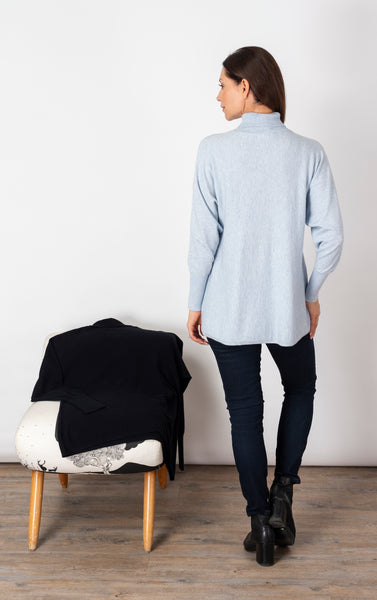 Life's a Breeze Pale Blue Roll Neck Jumper