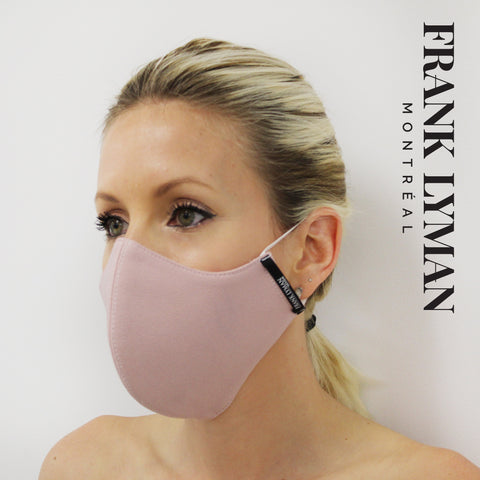 Re-Usable Face Mask in Pale Pink - Free shipping online Australia