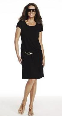 Easy Fit Cap Sleeve Scoop Neck Dress 4747 Signature of Double Bay Paula Ryan Stockist