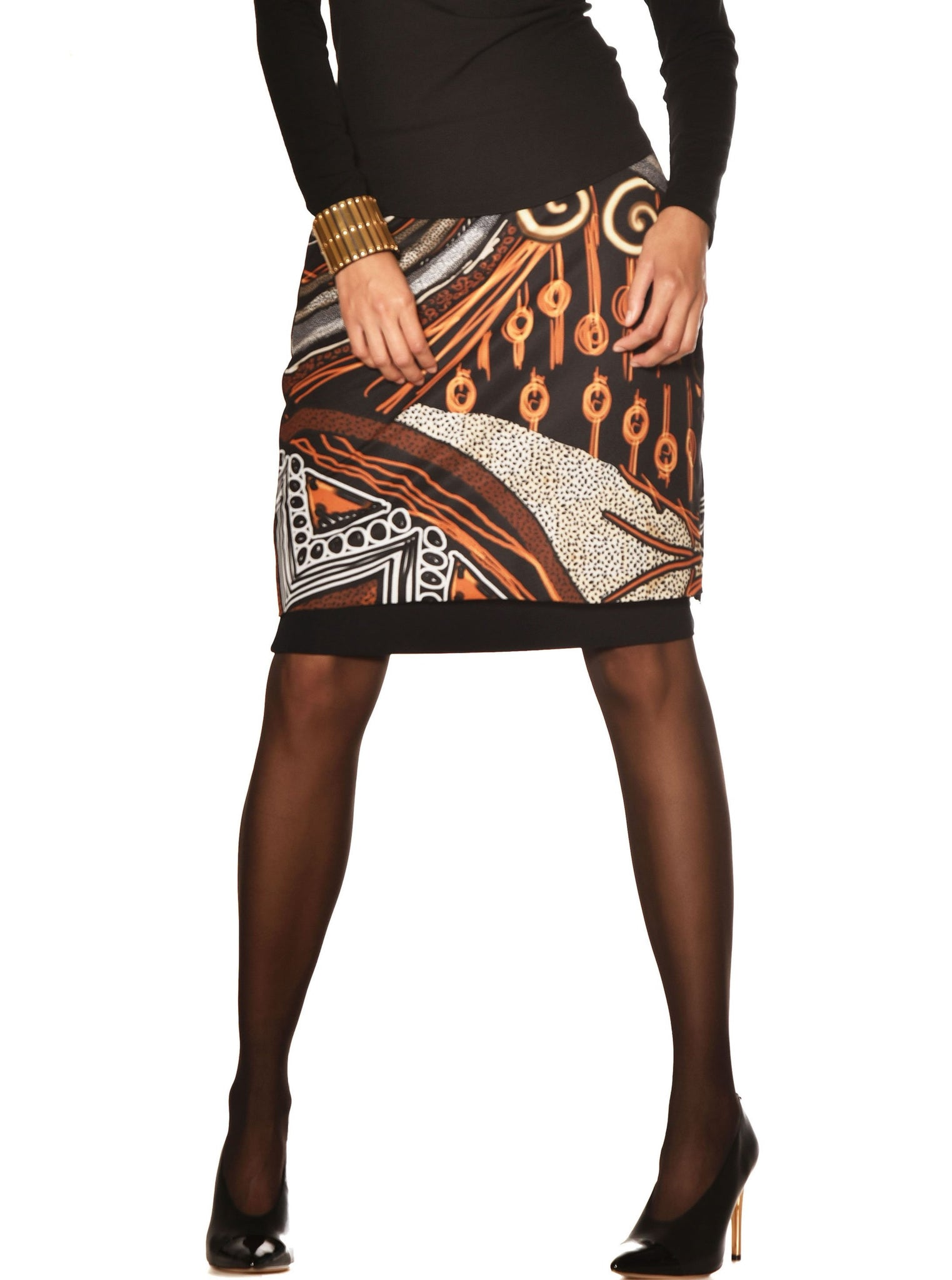 Paula Ryan Mesh Print Pencil skirt 8108 Paula Ryan skirt stockist sydney australia online Signature of Double Bay Paula Ryan curated collection fashion boutique