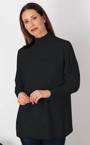 Life's a Breeze Black Roll Neck Jumper