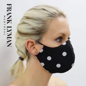 Re-Usable Face Mask in Polka Dot Print online Australia