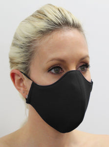 Plain Black re useable facemask online Australia