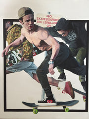 """No Skating"" By Max Peralta - 11 x 14 High Quality Giclee Print"