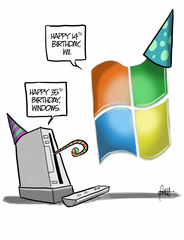 """Happy Birthday Tech Innovators"" DTNS 11/20/20 8.5 x 11 ArtProv Print"