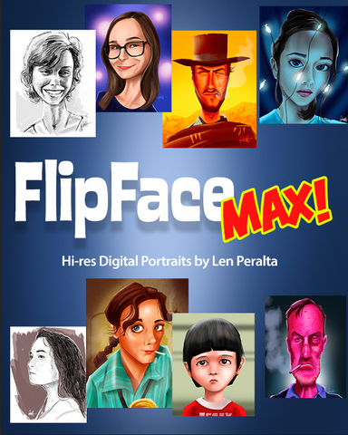 Flipface MAX: Hi-Res 8 x 10 B/W & Color Avatars