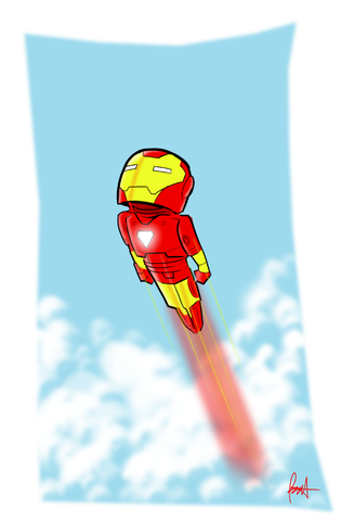 Iron Man Dream 11 x 17 Print