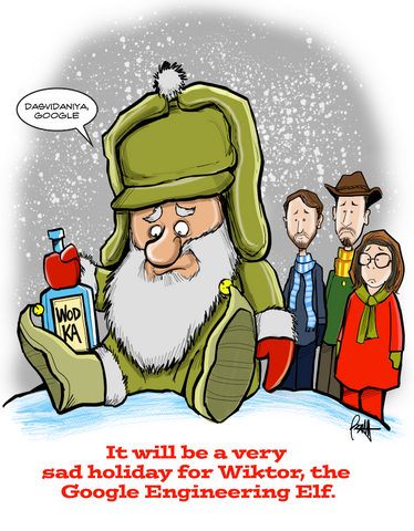 """Wiktor The Google Elf""  Print"