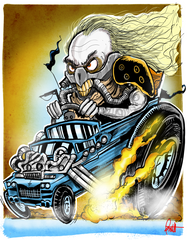 """Immortan Joe"" 8.5 x 11 print"