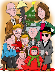 Custom Drawn Holiday Greeting Card (PHYSICAL CARDS)