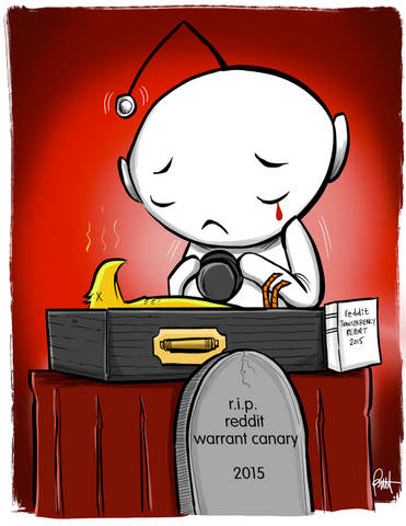 """R.I.P Reddit Warrant Canary"" DTNS 4/1/16 Print"