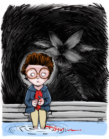 """Behind You Barb!"" 8.5 x 11 Giclee Print"
