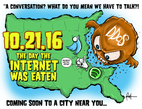 """The Day The Internet Was Eaten!""  DTNS 10/21/16 Print"