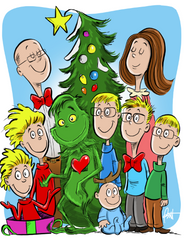 Custom Drawn Holiday Greeting Card (DIGITAL ONLY)
