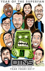 "Daily Tech News Show ""Year Of the SuperFan"" 11 x 17 Commemorative Customizable  Poster"