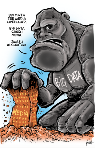 """Big Data Overload"" DTNS 2/23/18 11 x 17 ArtProv Friday Roundtable Print"