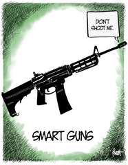 """Smart Guns"" (VERSION 1) DTNS 6/8/18 8.5 x 11 ArtProv Friday Print"