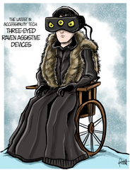 """Three-Eyed Raven Assistive Devices"" DTNS 5/24/19 8.5 x 11 ArtProv Print"