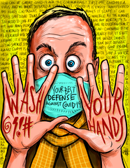 """Wash Your Hands"" DTNS 2/28/20 8.5 x 11 ArtProv Print"