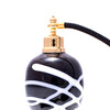 Black glass bowl atomizer with white stripe pattern image 2