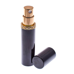 Black & Gold Diamante perfume atomizer 8ml