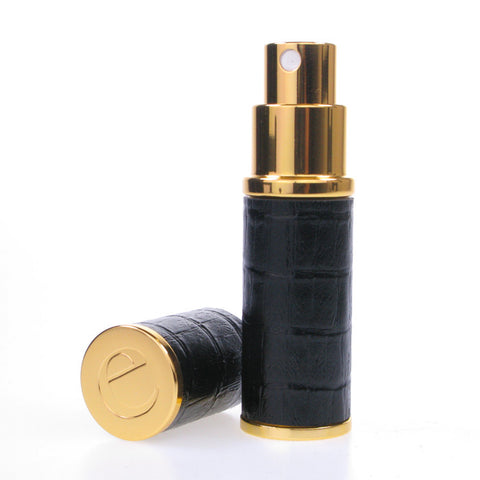 Essential Black & gold 8ML Crocodile skin look atomizer
