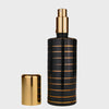 Hand Painted Black & gold stripe pattern atomizer & soap dish set image 2